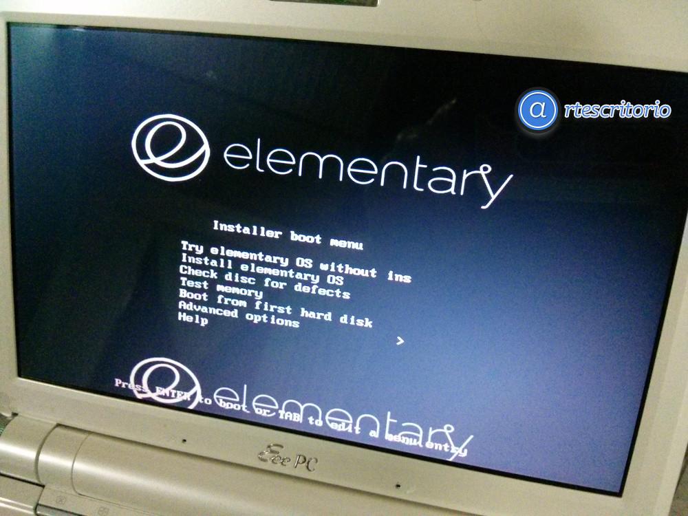 como instalar elementary OS Luna