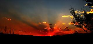 Bushfire sunset 1 - explored