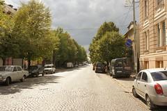 Мощенные брусчаткой улицы Мукачево / Paving by pavestone streets of Mukachevo