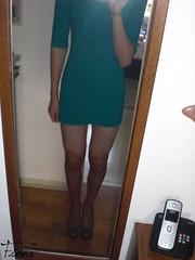 New Longtop (fiona_cd1) Tags: sexy legs young crossdressing teen german heels fiona crossdresser crossdress teenage longtop