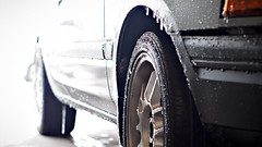 PA270026 (_KPGRAFIX) Tags: winter snow grey bucket rust wheels rusty chillin rustbucket 1992 mazda icicles hatchback beater rota 2door mazda323 2dr wetsnow winterbeater rotawheels 16x7