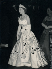 Mayor`s ball in Sydney (romanbenedikhanson) Tags: ball sydney australia 1954 eveninggown queenelizabeth originalphoto mayorsball royaltour19531954 queenelizabethatball
