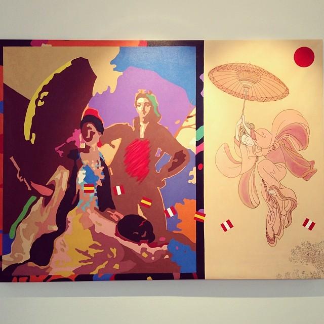 """""""Homenaje a Goya, el Parasol"""" • """"El Diálogo, el Pastiche y la Memoria"""" #muestra individual de Ramiro Pareja Herrera #arte #arteenlima #art #artinlima #artist #artista #pintura #painting"""
