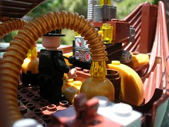 Minding the engines (Sorontar) Tags: lego airship steampunk