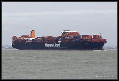 Hamburg Express (leightonian) Tags: uk island boat ship unitedkingdom isleofwight solent gb containership isle cowes wight iow