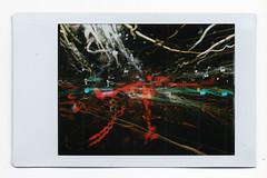 The Bus Ride Home (Cris Ward) Tags: longexposure travel light lightpainting abstract bus cars film lines bulb night analog dark toy lights movement lomo lomography stream fuji traffic transport toycamera experiment pinhole plastic instant analogue dianaf instax dianafpinhole lomographyuk lightstrams dianainstantcamera