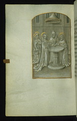 Book of Hours, Presentation in the Temple, Walters Manuscript W.194, fol. 56v (Walters Art Museum Illuminated Manuscripts) Tags: book illumination christian ornament devotion flemish manuscript flanders waltersartmuseum codex 15thcentury bookofhours grisaille originalbinding