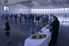 Lunch in the Gateway to Space Hangar at DC-X 20th Anniversary Event