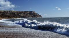 waves (Tatsuki's) Tags: uk beach surf waves wave dp1 osmingtonbay