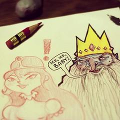 PB & Ice King (Hadoland) Tags: red art pencil fan time drawing pb sketchbook adventure doodle iceking princessbubblegum