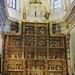 Retable en albâtre polychrome (XVe), église abbatiale, monastère d'El Paular, Rascafría, communauté de Madrid, Castille, Espagne.