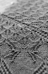 _DSC4317bw (KateSi) Tags: knit knits knitting knitted lace aeolian shawl knitty silk merino bw black white blackandwhite blackwhite b sjal chal chle hacerpuntos strikke maglia tricoter azul bleu blu bl green vert verde grnn tejer