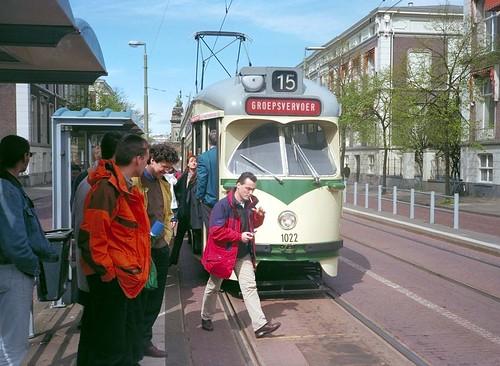 Den Haag Netherlands 15th April 1999 (loose_grip_99) Tags: birthday holland netherlands tram denhaag 1999 april 50th thehague 1022 htm groepsvervoer alexandestraat