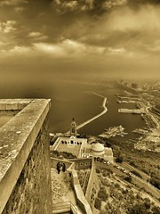 Chapel Santa Maria (Bendaidj Photography) Tags: santacruz mountain architecture landscape blackwhite fort spanish oran bendaidj 15771604