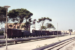 Once upon a time - Tunisia - Nabeul (railasia) Tags: station tunisia platform seventies infra nabeul goodswagon sncft metergauge