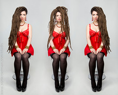Somersetman_7428-9 (somersetman) Tags: stockings composite three trio stool dreads reddress modelsavra