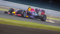 Sparks Will Fly! (Fireproof Creative) Tags: motion car race speed automobile energy power fast f1 racing renault grandprix silverstone formulaone sparks redbull motorracing motorsport automotivephotography kvyat