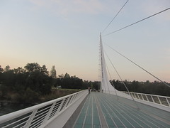 The Sundial Bridge (reza fakharpour) Tags: california sundial suspensionbridge redding touristattraction pedestrianbridge sundialbridge famousbridges sundialbridgeatturtlebay