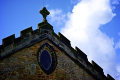 St Marys Church, Kirkby Lonsdale (socialBedia) Tags: roof church architecture cross kirkbylonsdale