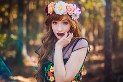 (Steven Sites) Tags: canon eos 5d mark iii sigma 50mm f14 girl woman nature flowers floral flare sun dress eyes lips red summer rainbow crown portrait florida orlando