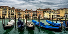 Dull Day In Venice (derek.dpr) Tags: venice venise venezia italy italia gondola gondolas grand canal architecture architectural colours colourful olympus omd reflections reflection on1 on1pics em5