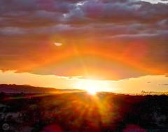Sunset Impressions (splinx1) Tags: contrejour sun sunburst sunblast hdr cloud eyescape canonart canonpowershotelph330hs ~120mm zoom california desert handheld chdk optics thewaysofglass impressionism solareye