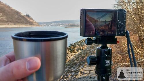 Burg Ehrenfels, Rhein, Kaffee und Kamera