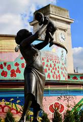 Bronze Woman, Stockwell, Lambeth Walk (subherwal) Tags: lambeth walk big ben westminster london