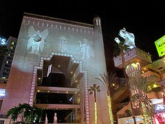 Babylon in Hollywood (DannyAbe) Tags: hollywood losangeles california hollywoodhighlandcenter babylon gate night