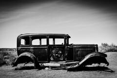 1932 Studebaker. Route 66. Holbrook. Arizona (PickledMonkeyStudio) Tags: rust route66 holbrook holbrookaz arizona az studebaker 1932studebaker bw