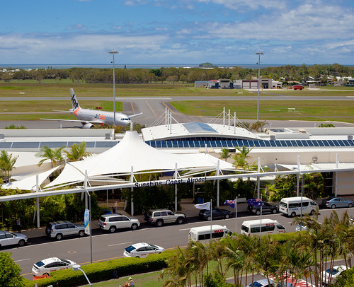Sunshine Coast Airport from Tower - Wide