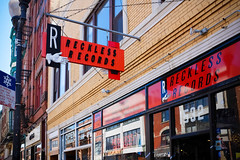 Reckless Records (Sean Davis) Tags: chicago illinois unitedstates storefront logansquare recordshop recklessrecords