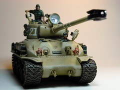 Academy  135 M-51 Super Sherman  Built in 2002  Photo Retaken 1 (My Toy Museum) Tags: tank super kit 135 academy sherman