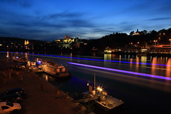 ~ Czech Prague , Dusk of Vltava (Moldau)~ (PS~~) Tags: city travel bridge trees light sunset shadow sky sun reflection tower castle church water night clouds port canon river lights pier boat europe ship afternoon nocturnal czech prague dusk hill prag praha tschechien unesco worldheritagesite most  czechrepublic rays bluehour charlesbridge vltava pleasure hradcany riverview pinkclouds riparian ceskarepublika karluvmost nightexposure karluv republika  blauestunde moldau malastrana   ceska landscapephotography colortemperature   kleinseite    karlsbrucke  dcdead goldenpraha  openchat