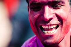 Holi festival, Kathmandu, Nepal (Andrew Taylor Photography) Tags: nepal portrait people man colour festival celebration kathmandu subject colourful festivity holi durbarsquare happyholi basantapurdurbarsquare colouredpowder playholi