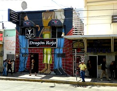 Dragn Rojo (Red Dragon) Bar, Zona Norte, Tijuana, June 2013 (Todd Mecklem) Tags: bar club mexico hotel la rojo bars df mural murals paloma mexican prostitution strip clubs tijuana prostitutes zona tj norte gragon