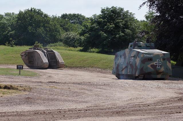MKIV and A7V Tank replicas