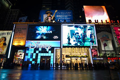 Forever Times Square (WhiteFlowersFade) Tags: voyage city nyc nightphotography travel people newyork night lights nikon cityscape view nightshot lumire citylife streetphotography streetlife timessquare rue nuit vue personnes ville streetview gens photographienocturne d7k d7000 vieenville