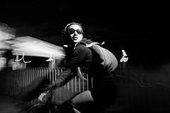 huba messenger (aleksanderhonca.pl) Tags: camera blackandwhite bw bike bicycle night flash off messenger 580ex messengerbag trigger bikemessenger pozna strato remoteflash womanonbicycle huba girlonbike strobist cityflyer girlonbicycle 5dmk2 phottixstrato messengeronbike