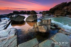62 Seconds @ Forresters Beach (Kiall Frost) Tags: ocean blue red orange colour green beach water sunrise nikon rocks purple platform australia nsw centralcoast forresters kiallfrost d800e