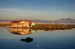 Shack (ilias nikoloulis) Tags: sunset reflection abandoned colors bay cabin nikon gulf aegean delta greece macedonia thessaloniki shack thermaikos kalochori aksios chortiatis d5100