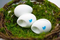 Twitterの卵3個