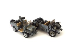 Comparison (=DoNe=) Tags: world 2 germany war lego jeep military nazi american vehicle willys kbelwagen
