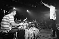 Japandroids in Beijing (KParchYVR) Tags: life china music white black rock night drums asia guitar live stage garage crowd performance beijing diving surfing drummer japandroids