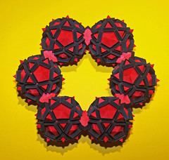 CORONA FUSION (Fusion Crown) (mganans) Tags: origami polyhedron origamimodular snapology equilateraltriangularunit