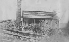 """The Old Home Stead"", Craigs Creek (Virginia) (ariel is . . .) Tags: old 1920s house southwest window rural fence virginia wooden log cabin va homestead teachers 1928 stonechimney craigscreek"