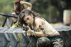 IMG_5198 (txdvil) Tags: sexy army model gun bokeh military jakarta weapon popular paintball ancol