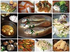 (Danburg Murmur) Tags: fish chicken soup salad rice mosaic cucumber tofu bowl korea lettuce seoul noodles southkorea koreanfood jabchae       acornjelly republicofkorea samcheongdong  chapchae  haemulpajeon    sweetpotatonoodles  dangmyeon  hangwa    baedongbaji  dotorimukmuchim