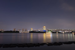 TOKYO DAIBA RAINBOW BRIDGE (Saha Entertainment) Tags: travel building japan tokyo nikon symbol dusk central tokyotower odaiba nightview olympic d800 2020