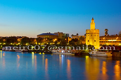 cityscape of Seville at night, Spain (neirfy) Tags: old city travel trees vacation sky urban holiday building tower tourism monument architecture del river landscape boats gold golden town sevilla spain ancient guadalquivir europe european cityscape torre view symbol famous sightseeing scenic landmark scene tourist seville andalucia historic spanish destination historical aged andalusia riverbank andalusian oro sevillana sevillan mozarabic